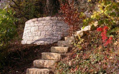 Mauerarbeiten in Langenbruck